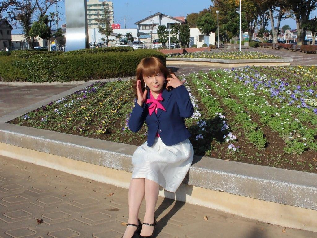 紺ジャケット白フレアースカートB(8)