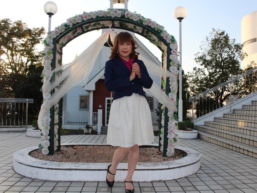 紺ジャケット白フレアースカートC(1)