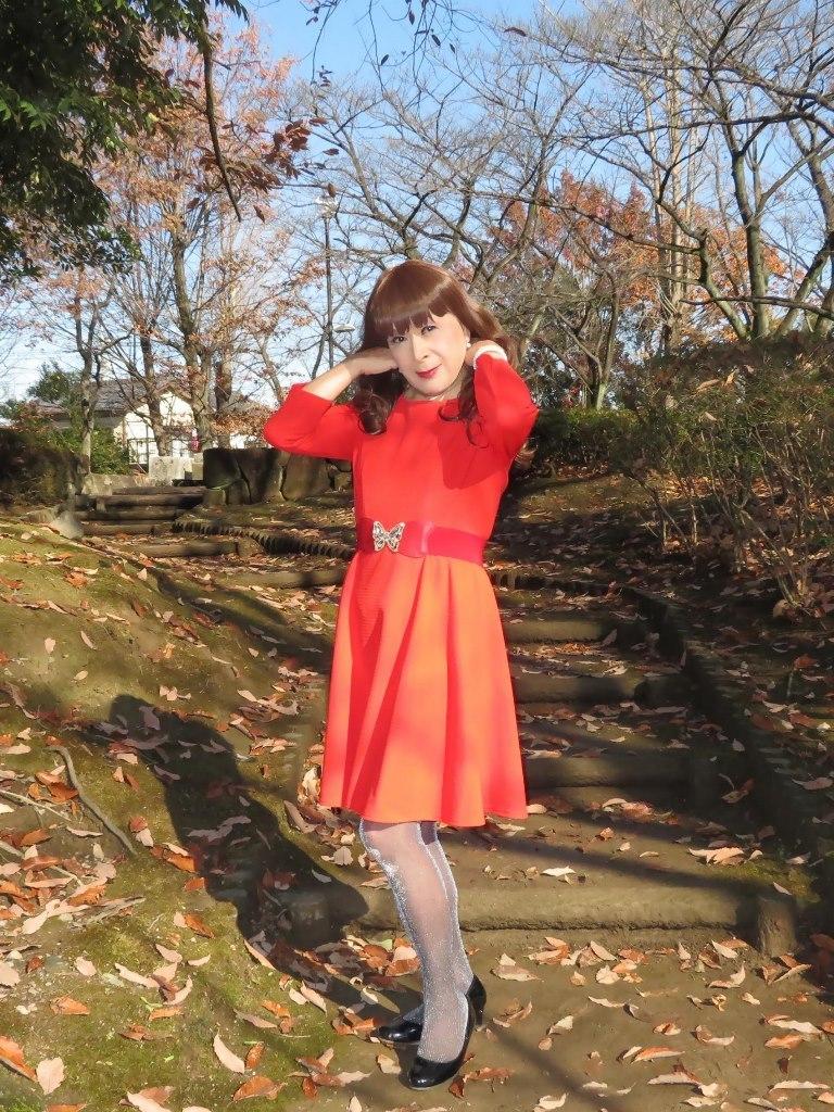 赤いワンピースB(1)