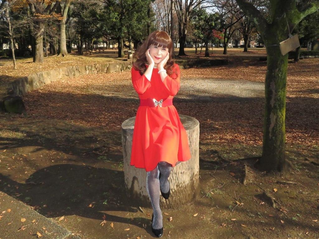赤いワンピースC(12)