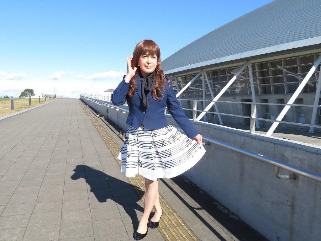 音符柄スカート紺ジャケットA(3)
