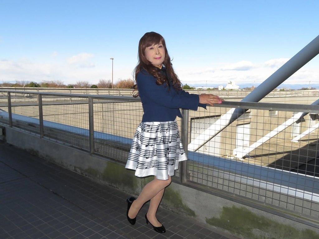 音符柄スカート紺ジャケットA(5)