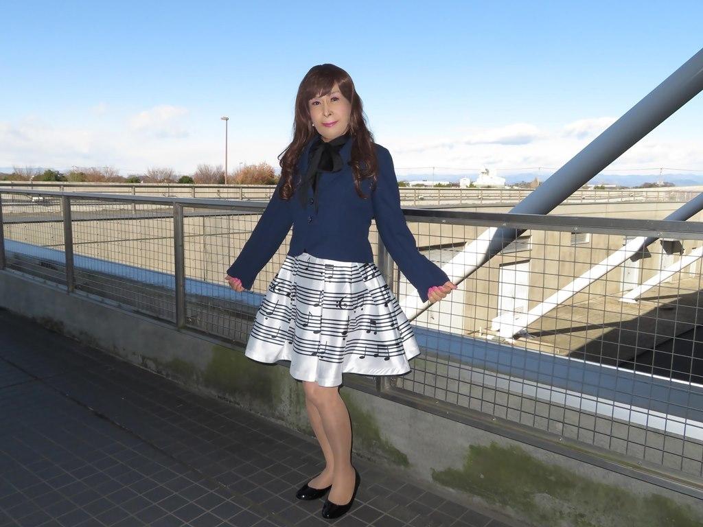 音符柄スカート紺ジャケットA(6)
