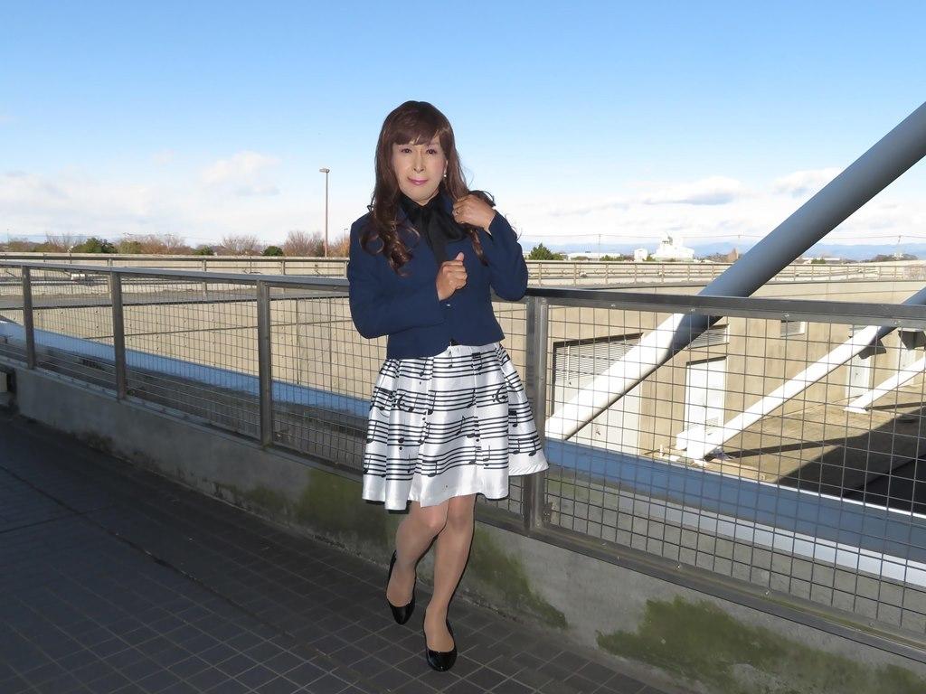 音符柄スカート紺ジャケットA(7)