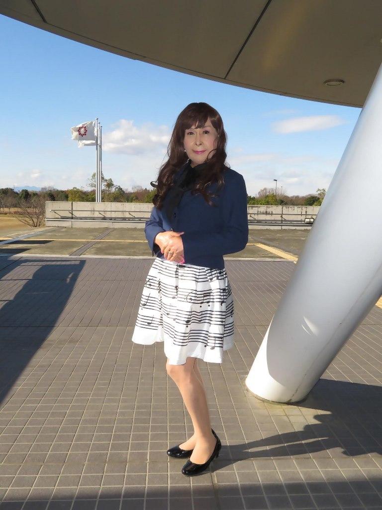 音符柄スカート紺ジャケットB(1)