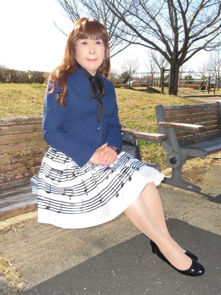 音符柄スカート紺ジャケットB(6)