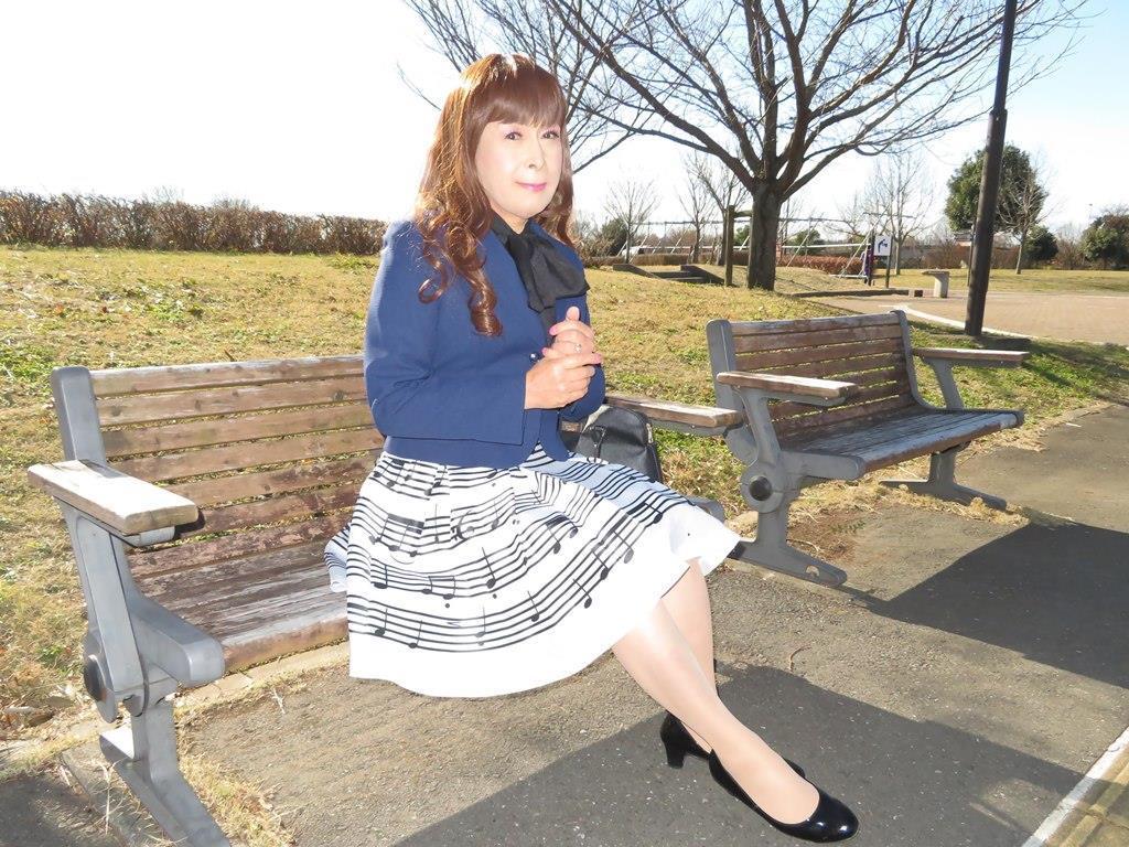 音符柄スカート紺ジャケットB(8)