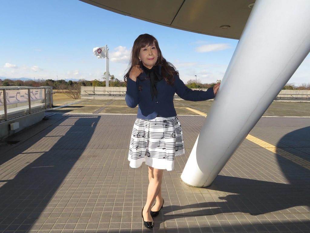音符柄スカート紺ジャケットB(3)