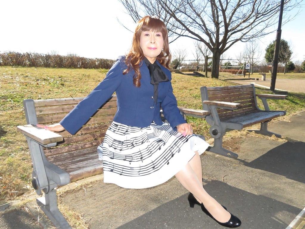 音符柄スカート紺ジャケットB(7)