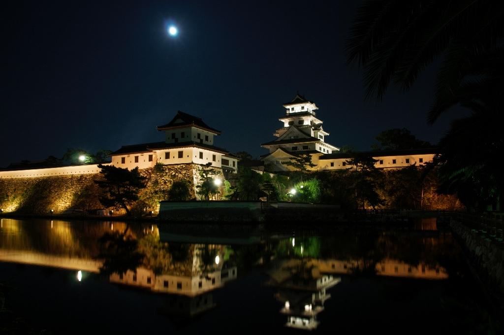 今治城の夜景
