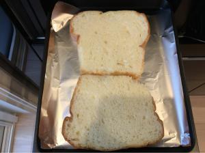 ラクッキングリルで食パンを焼く