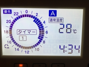 1階床暖房通常運転設定
