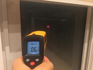 窓ガラスの温度