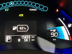 寒冷地で急速充電後の電池残量