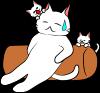 クッション猫