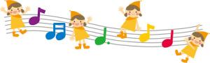 小人と音符