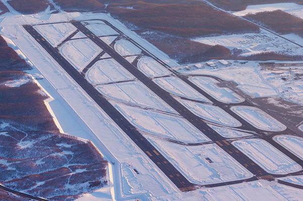 雪の新千歳空港