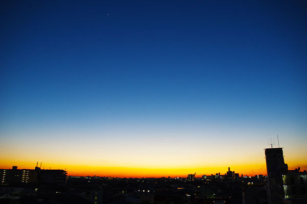 近畿大学国際学部5階からの夕景