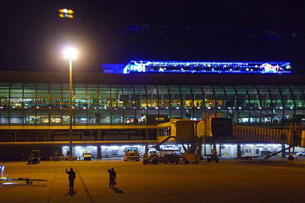 仙台空港の夜景