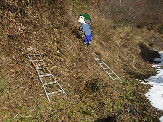 岩場法面整備