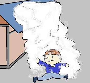 屋根の雪がー!
