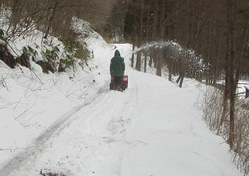 道付け除雪