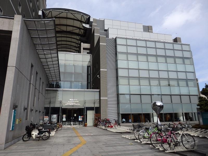 まなびピア21 中央図書館 建物の外観