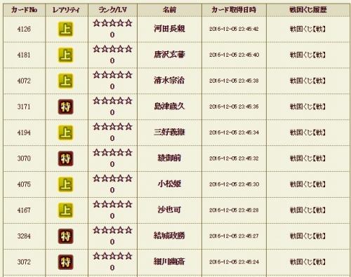 戦くじ5 履歴
