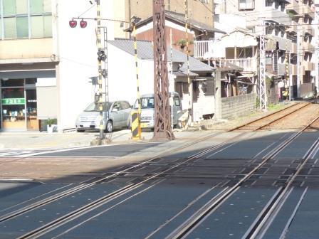 伊予鉄道 線路の平面交差