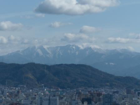 松山総合公園からの眺め 石鎚山 1