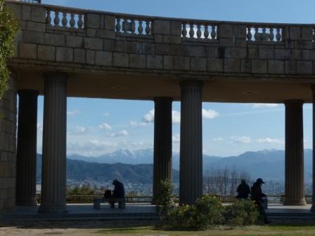 松山総合公園からの眺め 展望台 & 石鎚山 1