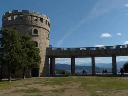 松山総合公園からの眺め 展望台 & 石鎚山 2