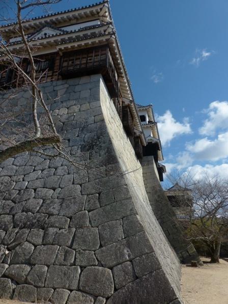 松山城 南櫓の石垣