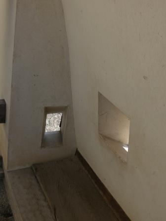 松山城 紫竹門横の塀 狭間