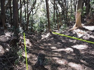 金ヶ崎、手筒山城の踏査(ブログ用)2016年12月3日 (10)