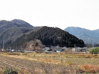 南越前町上別所茶臼山城跡踏査2017年1月6日ブログ (3)