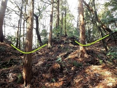 福井市片山真光寺城の踏査 (5)