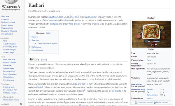 エジプトの国民食「コシャリ」がバカウマい_カロリー