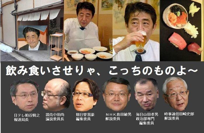 安倍晋三高級寿司屋