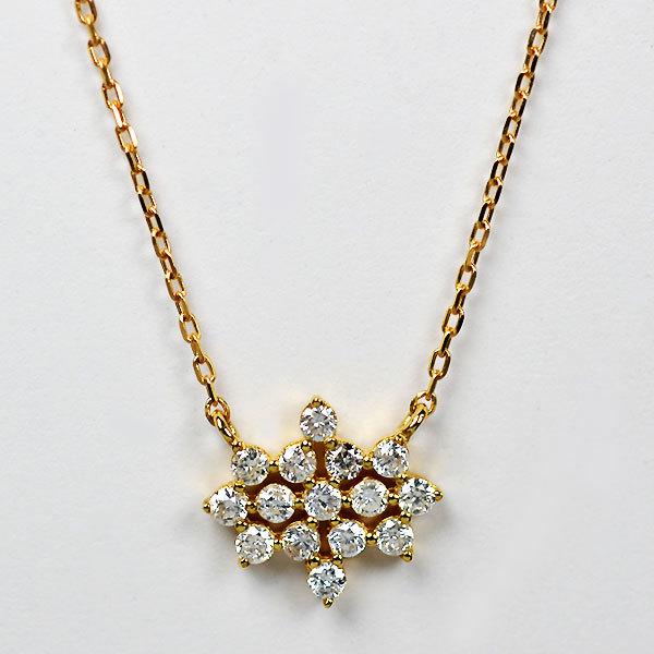 K18YG製ダイアモンドペンダントネックレス