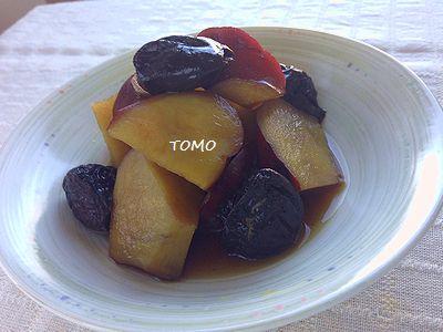 さつま芋とプルーンの炊き合わせ