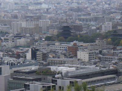 京都タワーからの東寺