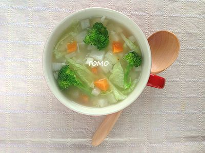 風邪引きさんに♪ニンニク入り具だくさんスープ