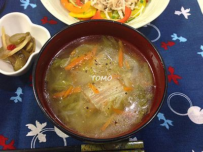 白菜のスープ炊飯器