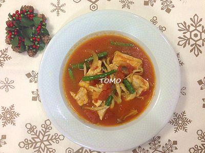炊飯器で鶏胸肉のトマト煮3