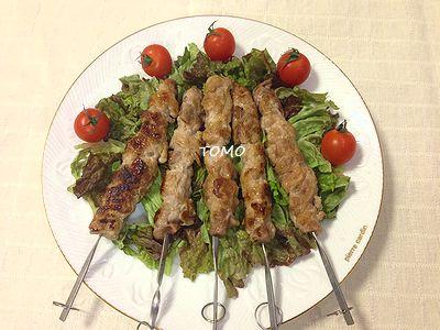 豚切り落とし肉の串焼き2