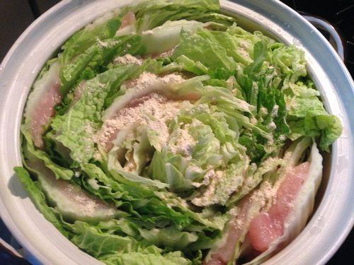 白菜と鶏胸肉の土鍋蒸し5
