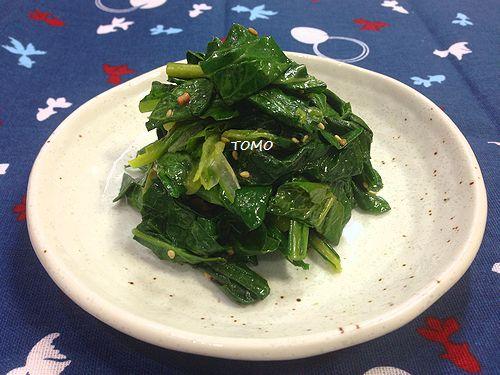 小松菜のふりかけ和え