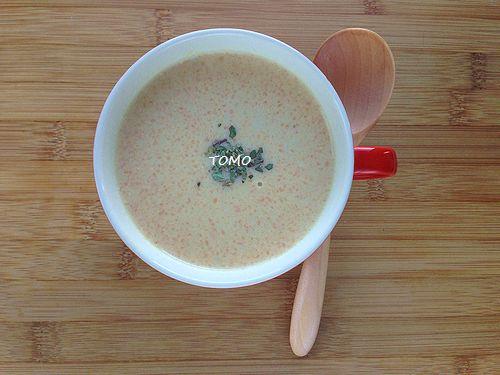 米ぬか入り人参の豆乳ポタージュ