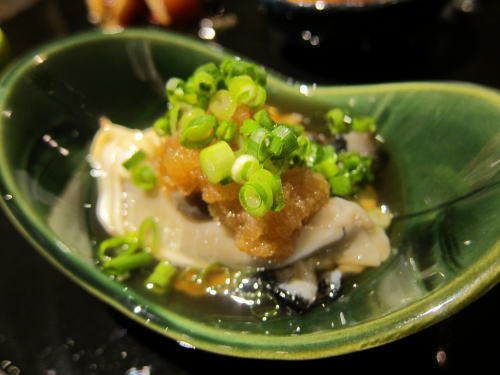牡蠣とナマコ土佐酢おろし